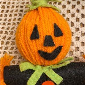 Vintage Handmade Pumpkin Scarecrow!